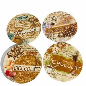 NWT Rosanna Chocolaterie 2 Tiered Tray & 4 Plates